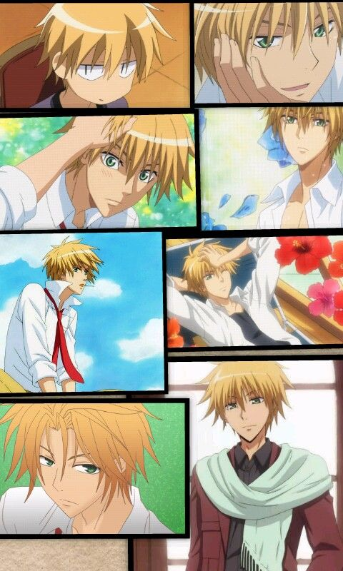 Confession: i think usui is so cool and handsome <3 I thought his hair was tangerine for the longest time, but apparently its blond Kaichou wa maid sama