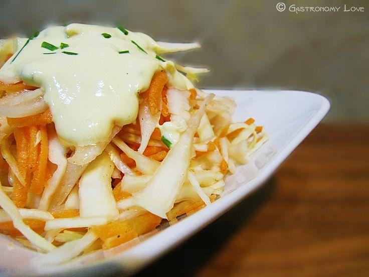 Coleslaw salad: insalata di cavolo & carote | Gastronomy Love