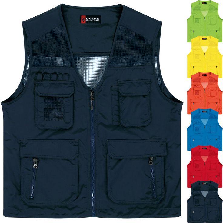 Multi Pockets Mesh Vest Fishing Hunting Carpenter Plumber Electrician Waistcoat #hellobincom