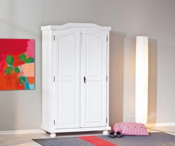 Kleiderschrank Hedda Weiß Dielenschrank 2 Türen Kiefer. Kleiderschrank GarderobenWeissSchlafzimmerEinrichtung