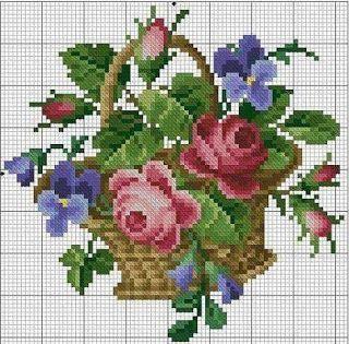 ENCANTOS EM PONTO CRUZ: Flores em Ponto Cruz                                                                                                                                                      Mais