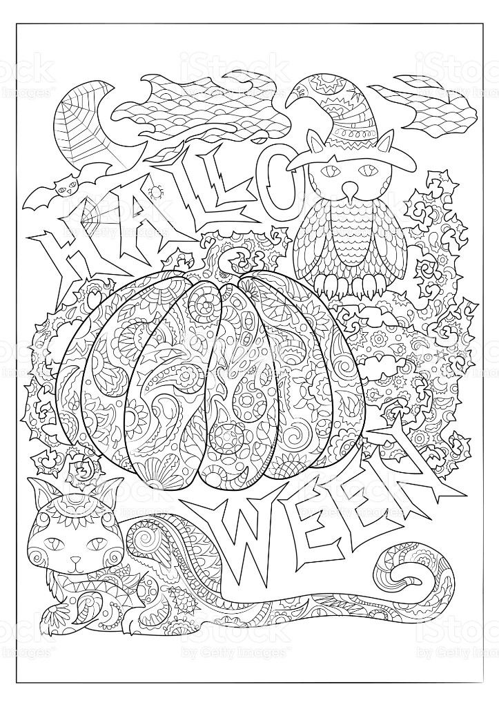 Pin By Valerie Dewulf On 0 Fantasy Colouring Halloween Coloring Pages Halloween Coloring Pages Printable Owl Coloring Pages
