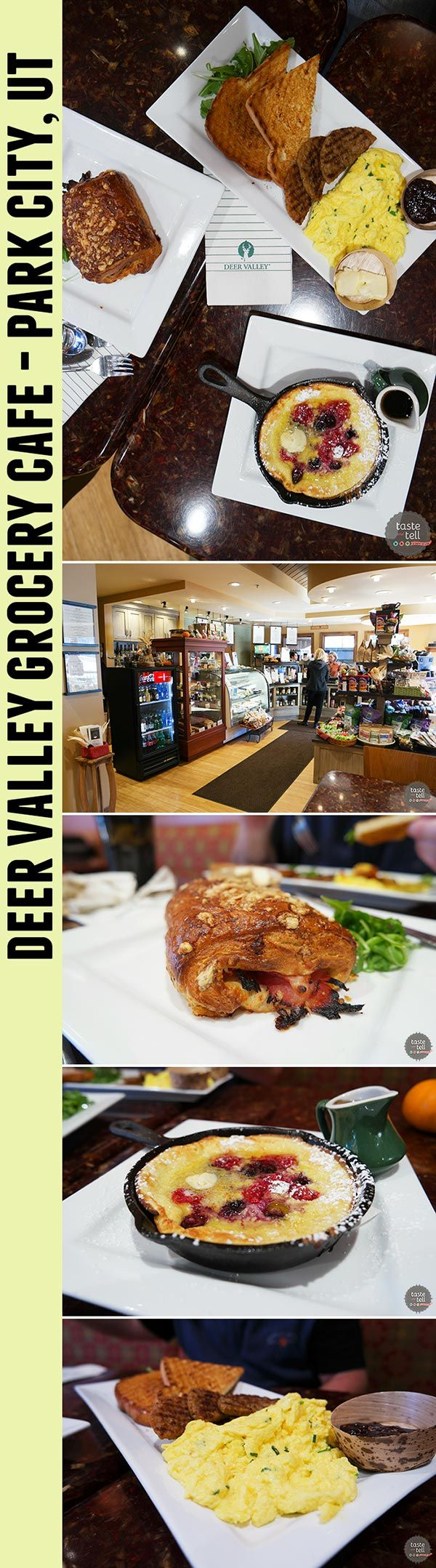 Deer Valley Grocery Cafe - at Deer Valley Resort in Park City, Utah. The perfect spot for breakfast before a big ski day!