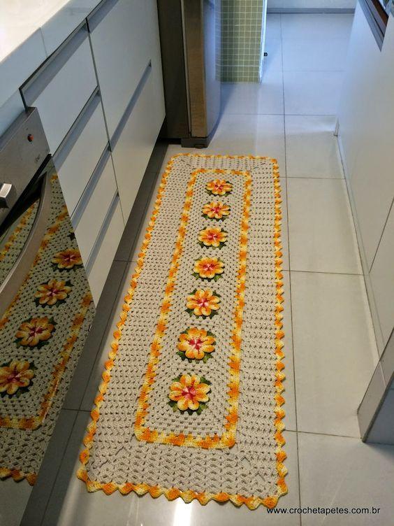 Tapetes de Barbante para cozinha para frente de pia