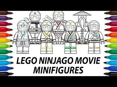 How to draw Lego Ninjago Movie minifigures - compilation video - YouTube