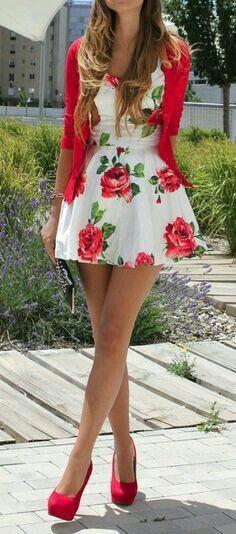 Vestido floral para eventos de día