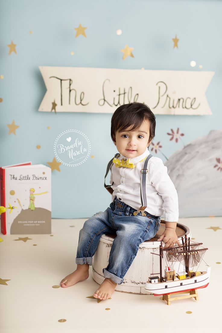 The Little Prince, The Little Prince Book, Little Prince Party, The Little Prince Theme, First Birthday, Cake Smash, Brandie Narola Photography
