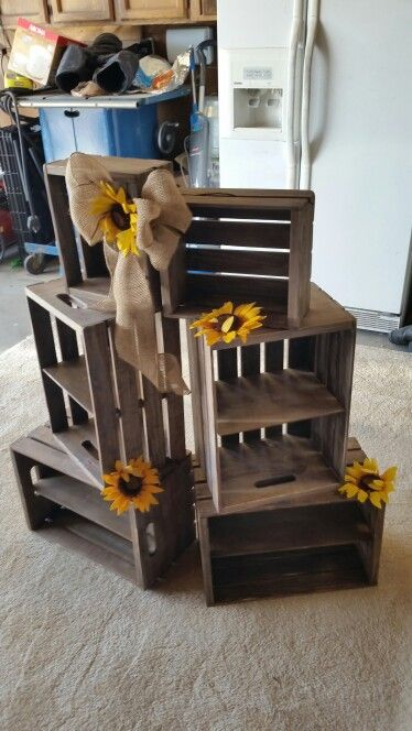 Diy Crate cupcake display                                                                                                                                                      More