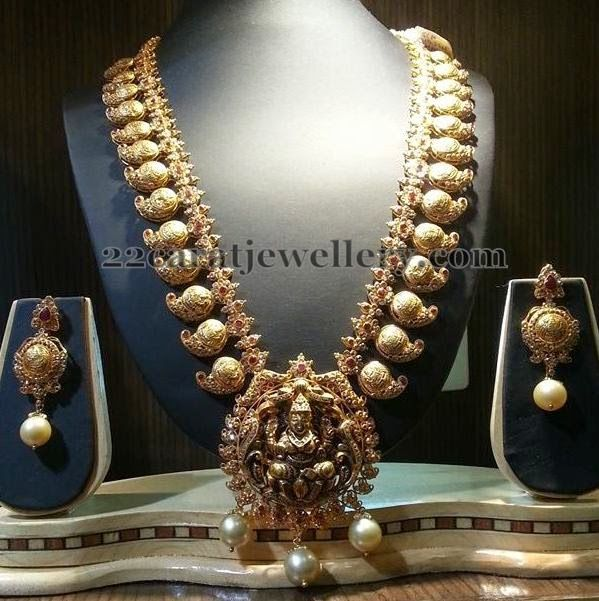 Jewellery Designs: Mughal Elaborated Pailsey Haram