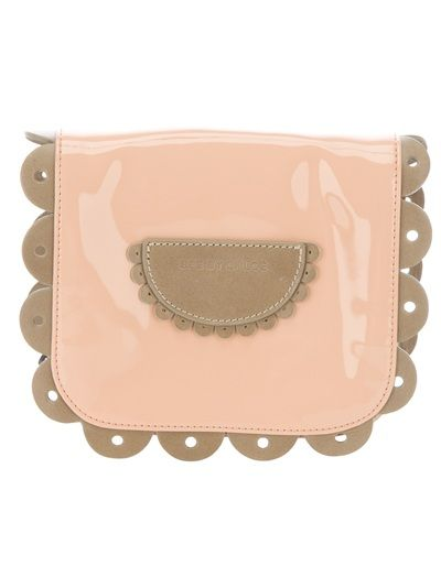 Pink calf leather blend shoulder bag from See By Chloé