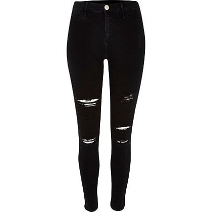 Black super ripped Molly jeggings £45.00