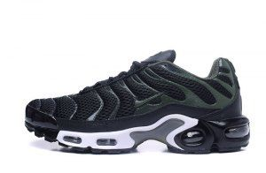 3b93d92cc63 Mens Nike Air Max TN Ultra Plus Black Olive Green White Running Shoes