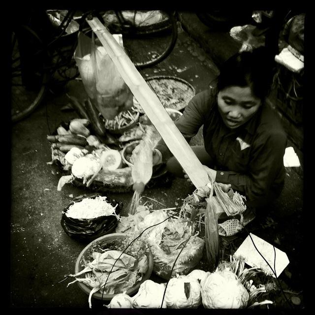 "Dong Xuan Market, Hanoi : street food, street food everywhere. Vietnam, just another word for ""food heaven"". #vietnam"