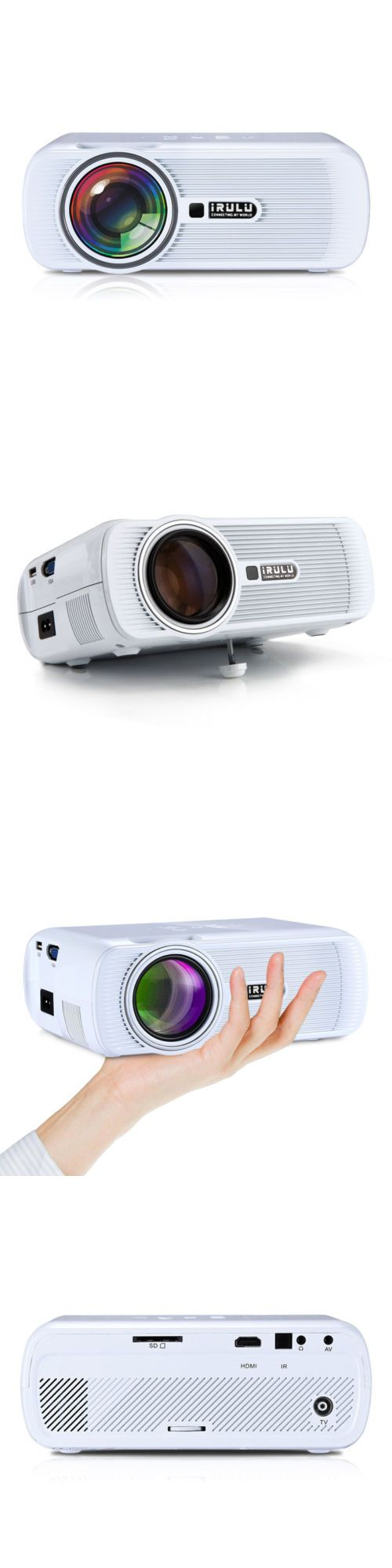Home Theater Projectors: Irulu 3D Home Cinema Theater Led Projector 1080P Fhd Hdmi Av Usb Vga Pc Sd White -> BUY IT NOW ONLY: $60.29 on eBay!