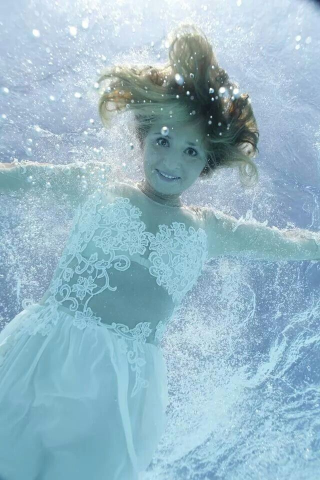 Underwater Wedding Photo