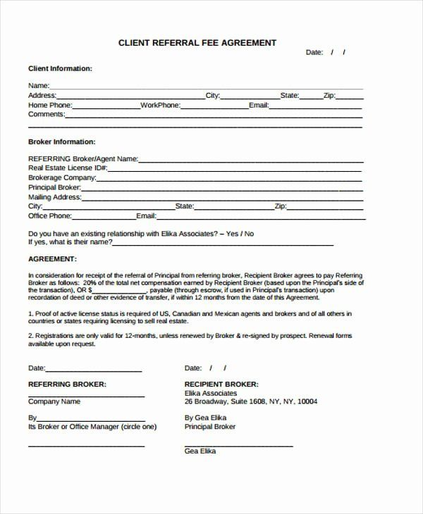 Customer Referral Form Template Beautiful 34 Printable Agreement Templates Word Pdf Pages Referral Program Flyer How To Make Brochure Templates Word