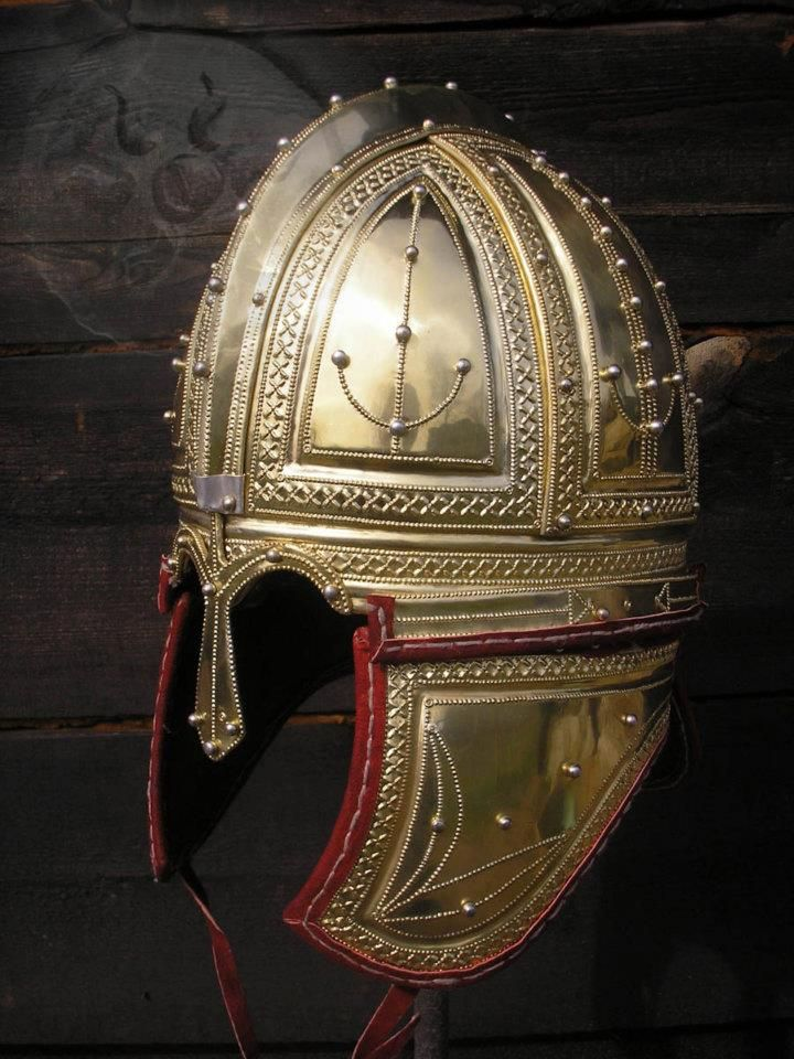 Deurne Roman Helmet, 3rd-4th Cent CE. This type directly influenced the later Frankish, Germanic, and Norse helms.