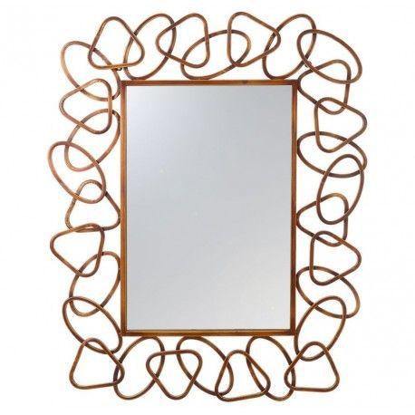 Decoraci n del hogar espejo de pared con marco de metal for Espejos redondos en la pared