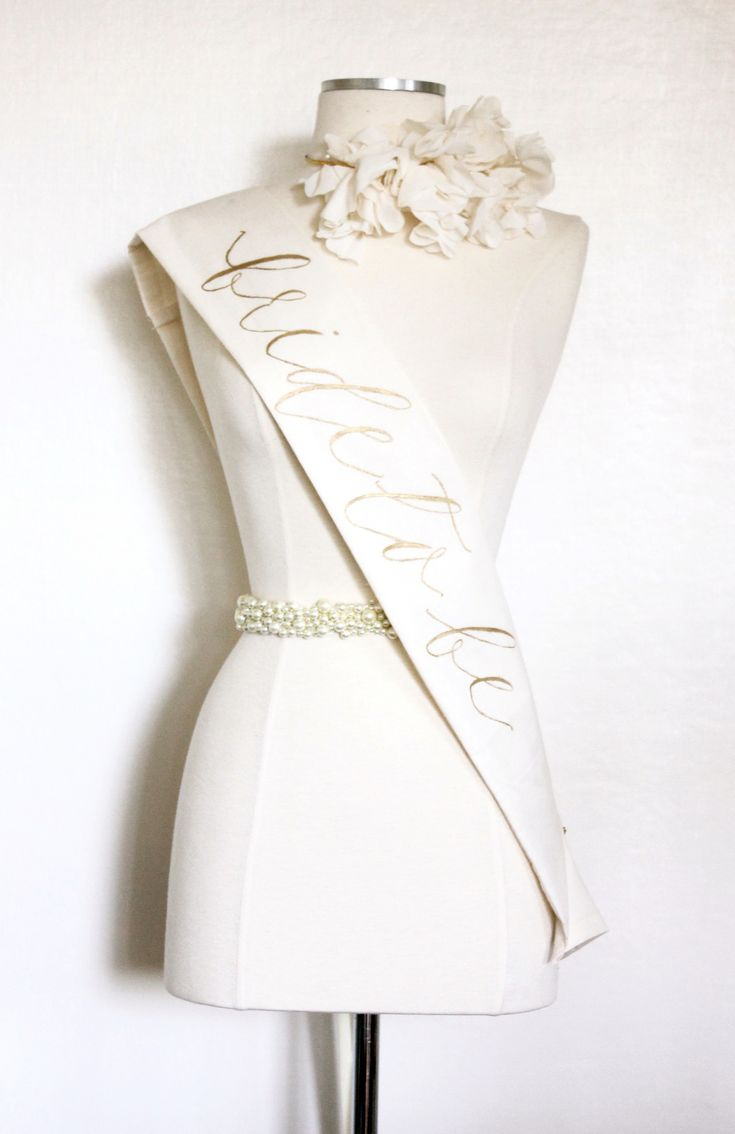 Bride To Be Sash — Handmade by Sara Kim