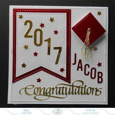 Graduation card (Selmas stamp corner)