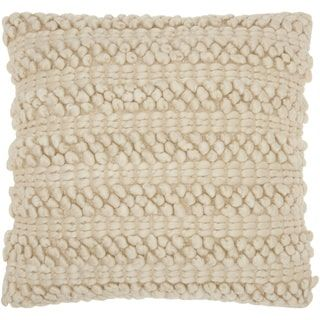 Mina Victory Lifestyle Woven Stripes Beige Throw Pillow by Nourison (20 x 20-inch) - Free Shipping On Orders Over $45 - Overstock.com - 18909709 - Mobile