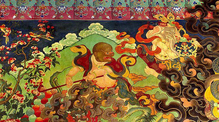 Tibetan Murals,Fresco,Tsangka,Regong Art