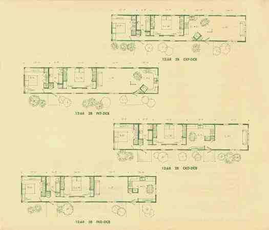 1967 Marshfield Plans. Note The Two Doors For The Second