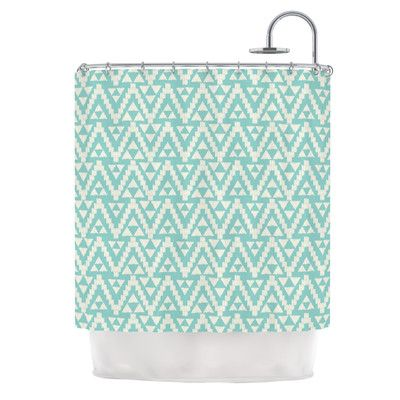 East Urban Home Geo Tribal by Amanda Lane Tribal Shower Curtain Color: Turquoise