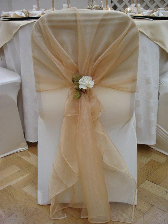 ideas para decorar y vestir sillas de boda sencillas y con paso a paso