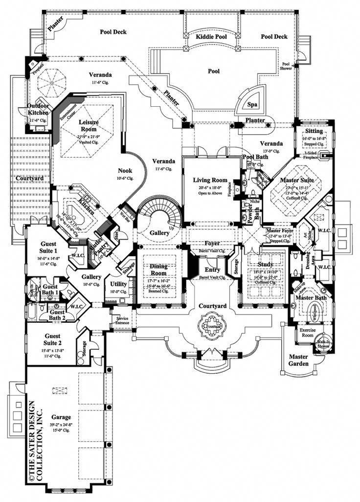 20 Designs Modernes De Chambre De Luxe Placarddeluxe Luxury House Plans Mansion Floor Plan Mediterranean Style House Plans