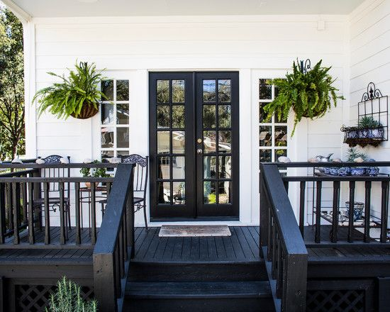 50 best black patio images on pinterest for Black french doors exterior