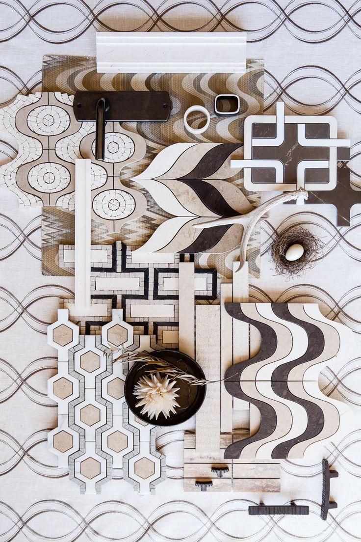 Walker Zanger Tangent tile in the warm hues of #CafeAuLait.