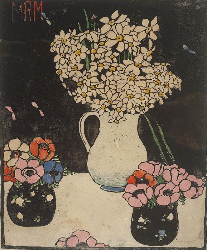 Narcissi, c1916-1919 Woodcut,