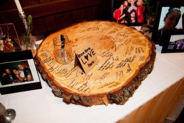 Would love to do something like this for a guest book. Will need a larger piece of wood - could be a welcome sign or a neat piece to add to the place we get married at the farm