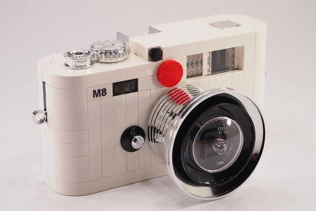 Lego Leica M8 - white edition by Mr.Attacki (H.Y.Leung), via Flickr