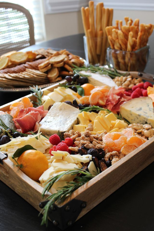 fruit, nuts and cheese tray