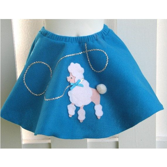 Toddler Girl Poodle Skirt Hand Made Ready To Ship 20 22 Waist