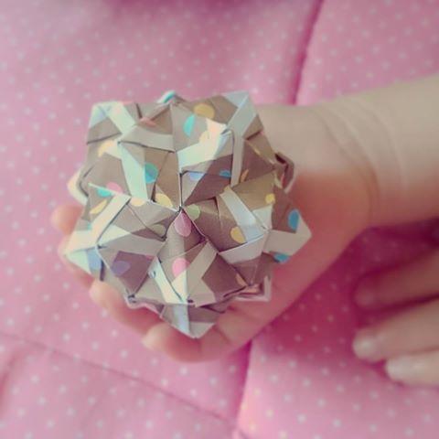 ハート 折り紙 : 折り紙 手裏剣からくす玉 : za.pinterest.com