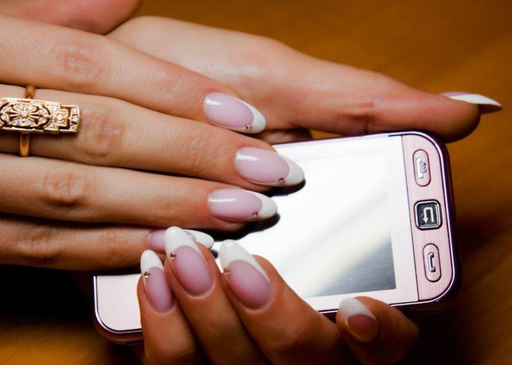 stiletto nails matching phone