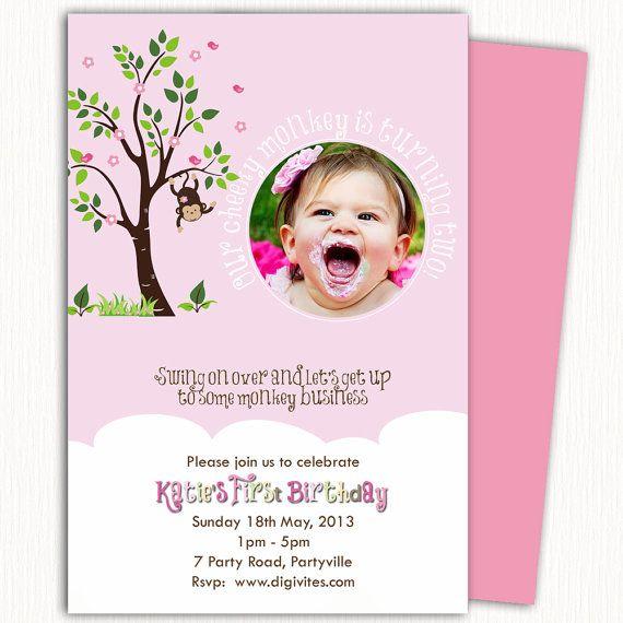 The 25+ best Monkey invitations ideas on Pinterest Monkey - birthday template invitations
