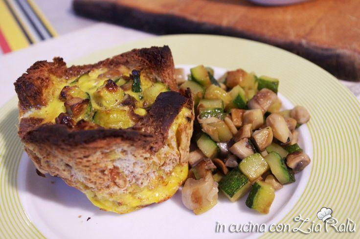 Cestini di pane funghi e zucchine - In cucina con Zia Ralù