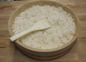 cooking sushi rice. I haven't heard of adding lemon juice to the dressing. Going to have to try this.