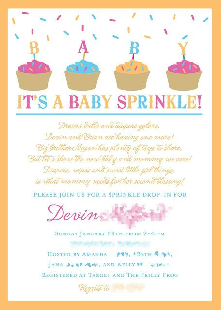 Baby Sprinkle instead of a baby shower for a 2nd baby