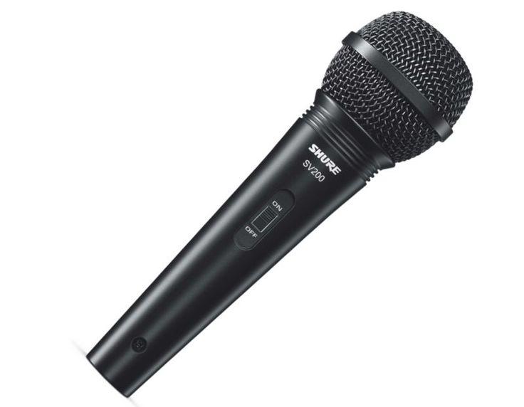 Mikrofon dynamiczny SV200 Shure | Nagłośnienie \ Mikrofony \ Dynamiczne | Sprzet-Dyskotekowy.pl - największy i najtańszy sklep internetowy z oświetleniem i nagłośnieniem w Polsce