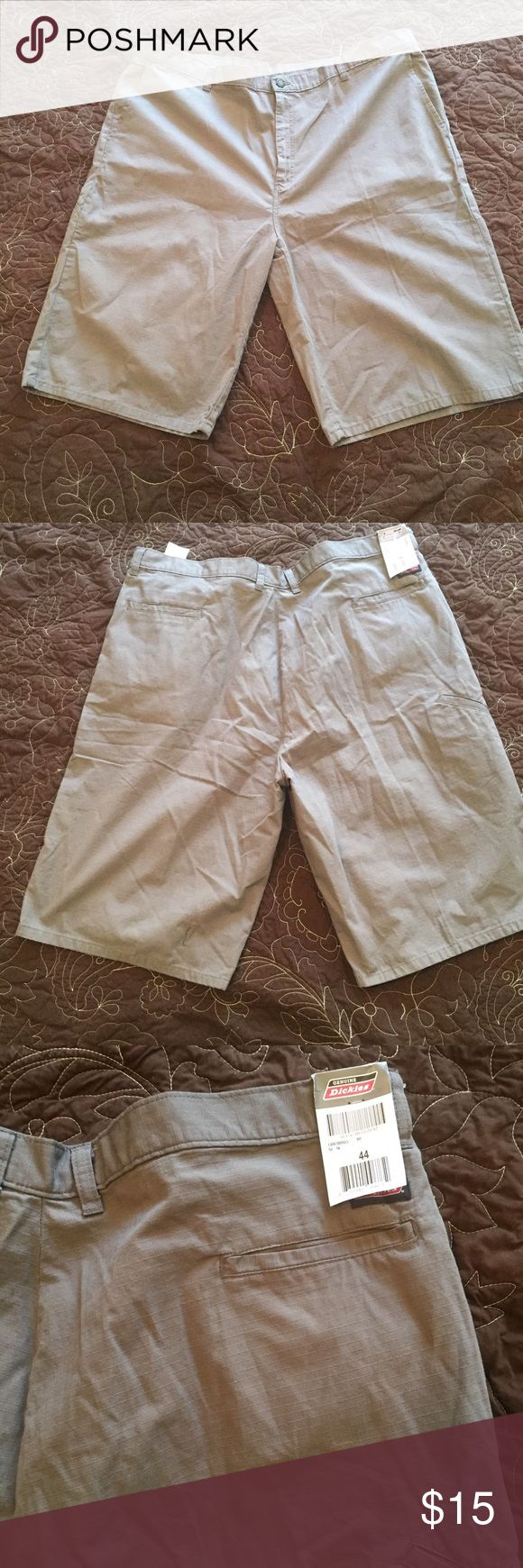 "Dickies Gray Shorts Size 44 414CB6 5 Pockets Work Dickies Gray Shorts Size 44 414CB6 5 Pockets Work Casual new with tags. Flat front Inseam 13"" Rise 14"" Dickies Shorts Flat Front"