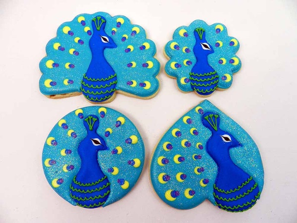 Flour Box Bakery — Peacock Cookies with a Twist