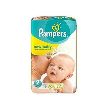 PAMPERS Pannolini New Baby Taglia 2 mini (3-6 kg) - Gigante x 56 pannolini di Pampers € 25,90