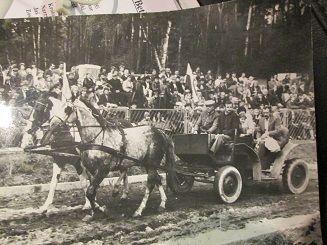 Dożynki w Suszu,lata 80-te. Piękne januszewskie konie i bryczka