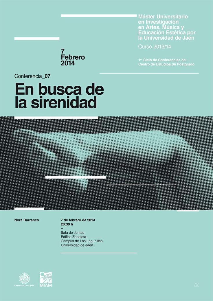 07 / Cartel Ciclo de Conferencias del Máster Oficial de la Universidad de Jaén en Investigación en Artes, Música y Educación Estética – designed by Javi Montoya