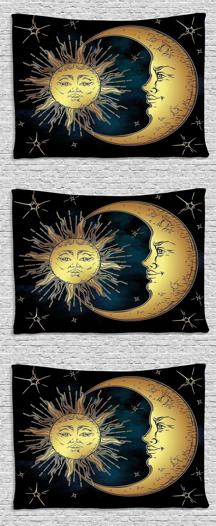 Tapestries 38237: Sun And Moon Psychedelic Tapestry Zen Art Decor Wall-Hanging Bedding Throw Dorm -> BUY IT NOW ONLY: $37.45 on eBay!